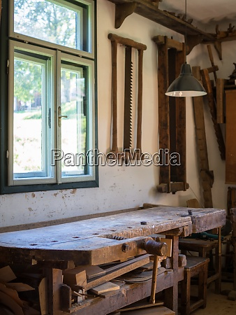 old workplace of a carpenter