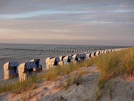 sundown at the beach of zingst