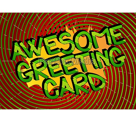 awesome greeting card comic book style