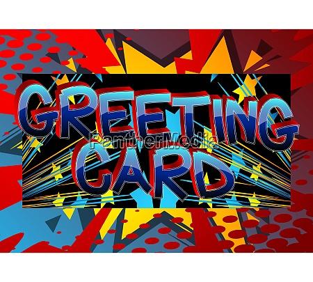 greeting card comic book style cartoon