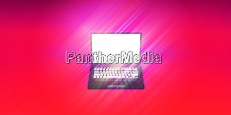 glowing laptop empty screen