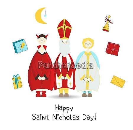 krampus saint nicholas and the angel