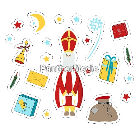 st nicholas saint nicholas day stickers