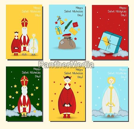 saint nicholas christian holiday set of