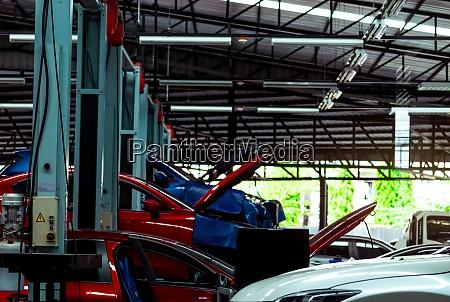 auto repair shop suv car is