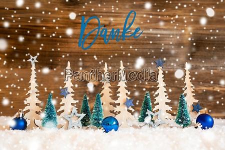christmas tree snowflakes blue star danke