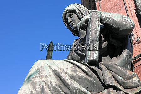 justice at the maxmonument in munich