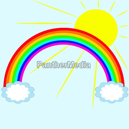regenbogen mit sonne