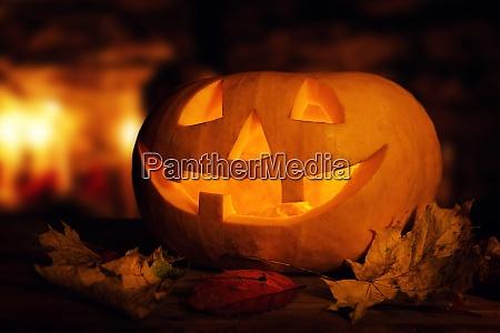 halloween pumpkin spooky glowing jack