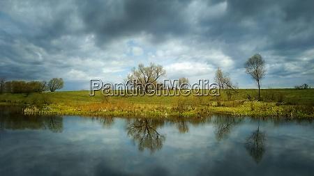 lake under reflections