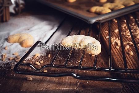 freshly baked vanilla crescents