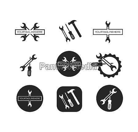 wrench vector illustration and icon of