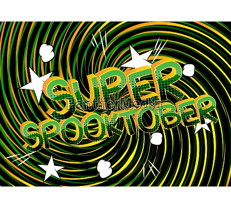 super spooktober comic book style cartoon