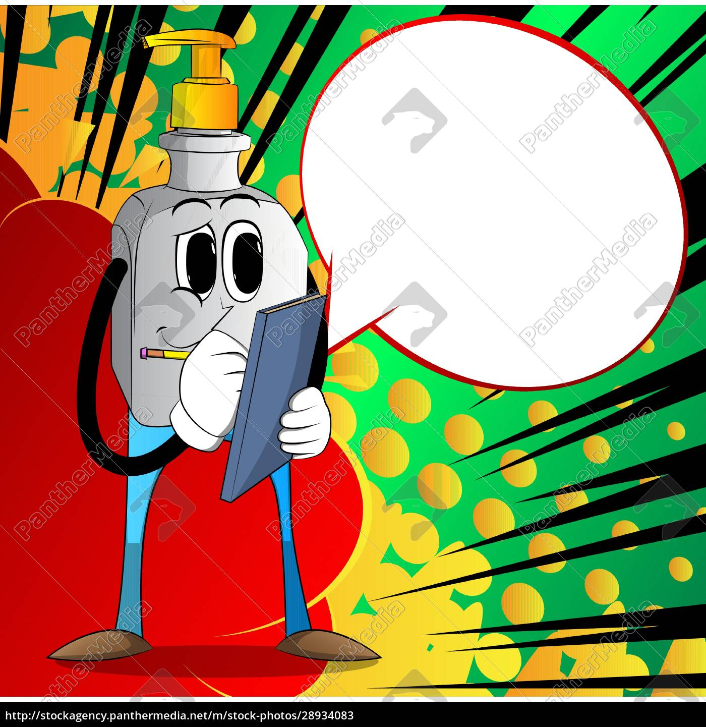 bottle, of, hand, sanitizer, gel, writing - 28934083