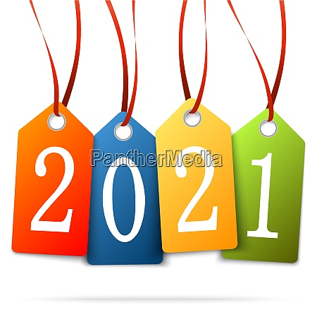 hanging numbers new year 2021