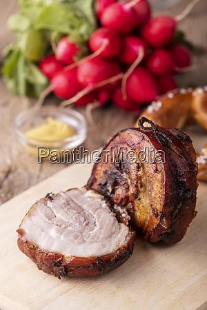 grilled rolled pork