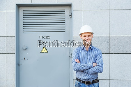 portrait of young engineer at the