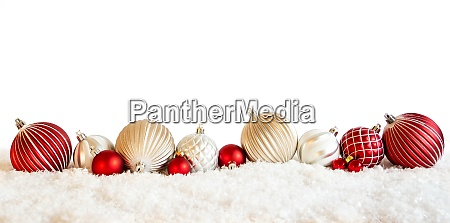red and white christmas ball ornament