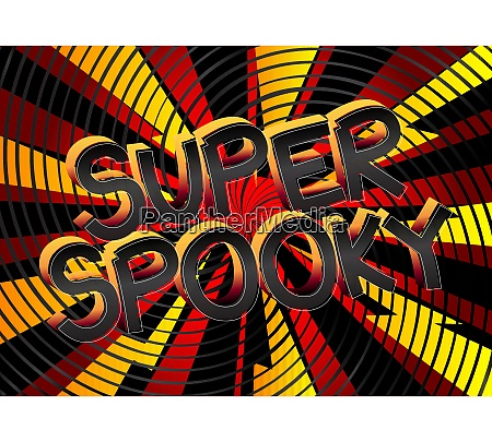 super spooky comic book style cartoon