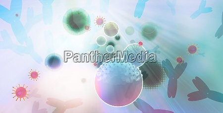 illustration of cells one infected cell