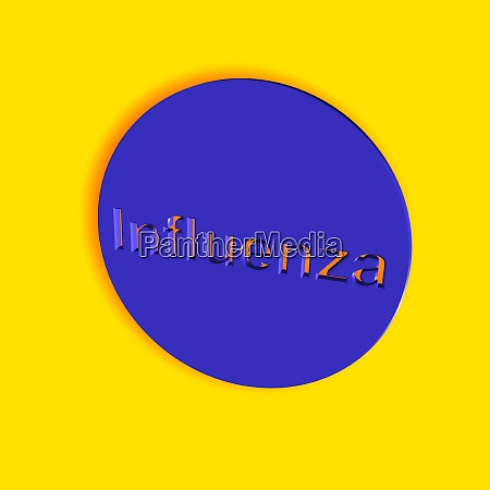 influenza word or text as