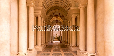 luxury palace with marble columns in
