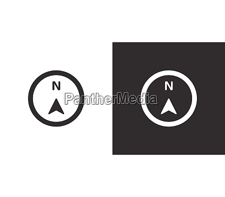 north direction compass isolated icon on