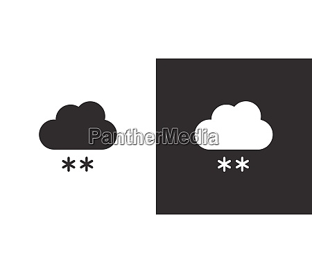 snow and cloud isolated icon on