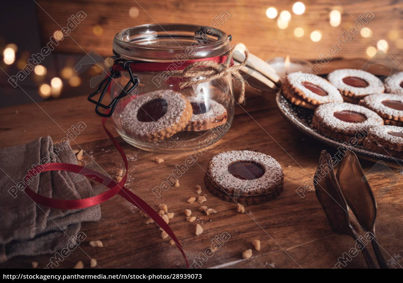 christmas, still, life, with, jam, cookies - 28939073