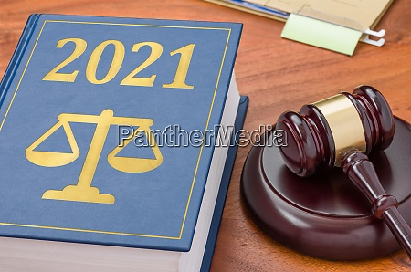 law book with a gavel