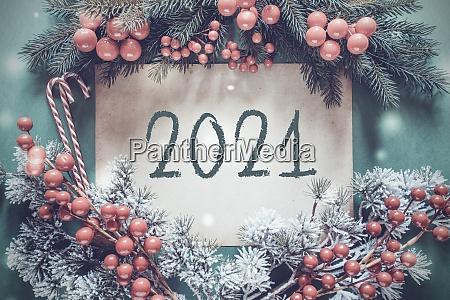 christmas garland fir tree branch snowflakes