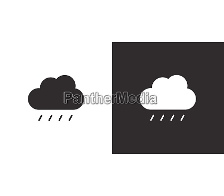soft rain and cloud isolated icon