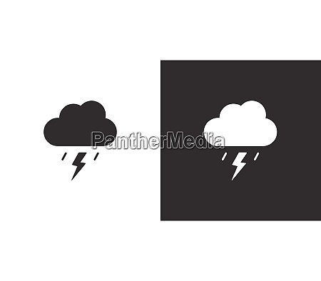 storm and cloud isolated icon on