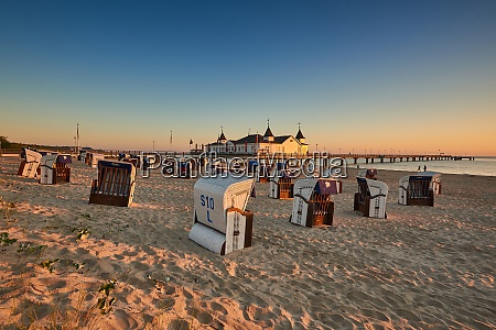 morning time at baltic sea beach