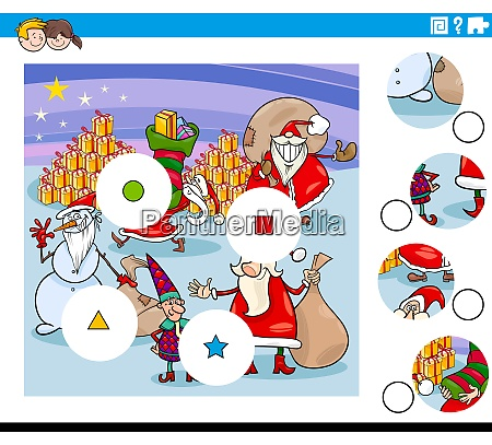 match pieces task with christmas characters