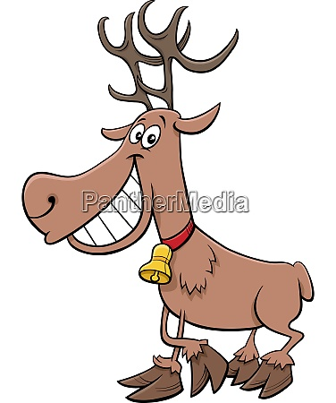 cartoon reindeer christmas holiday character