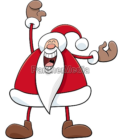 cartoon happy santa claus christmas character