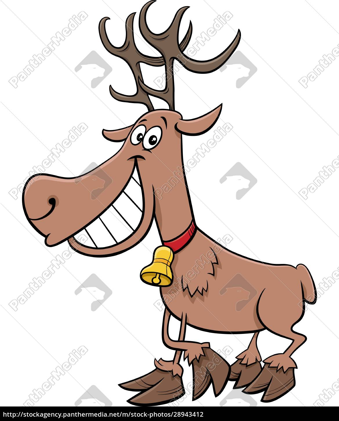 cartoon, reindeer, christmas, holiday, character - 28943412