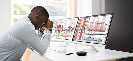 businessman with financial loss