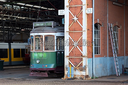 still life of heritage streetcars in