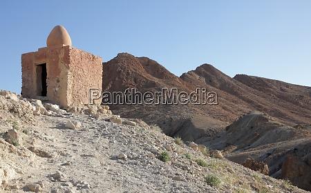 ruins of mountain oasis chebika at