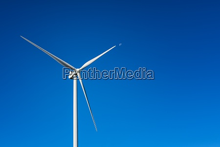 turbines in a mountain wind farm