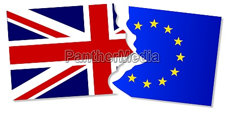 eu and great britain flags