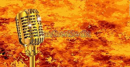 karaoke microphone on fire