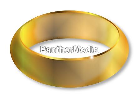 bright golden ring