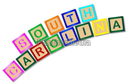 south carolina wooden block letters