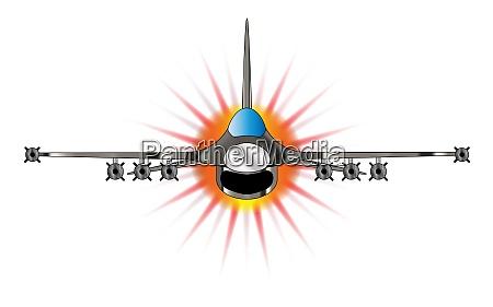 modern jet fighter