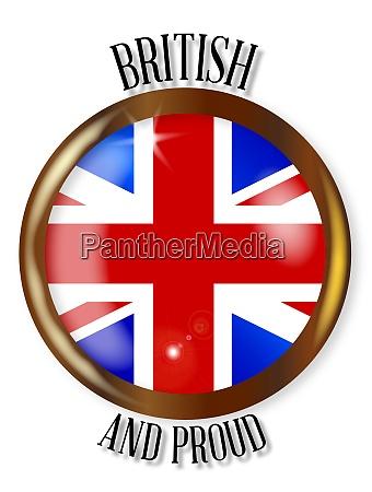 british proud flag button