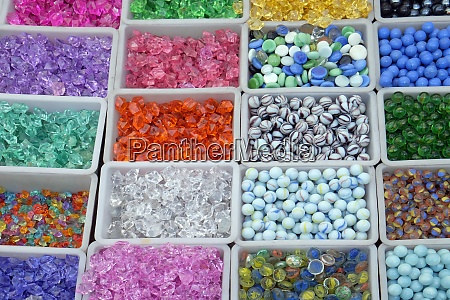 multi colored beads and tools for
