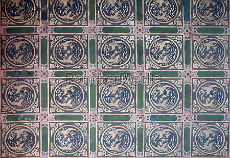 ornate painted ceiling on a building